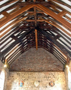 Bedern Hall, roof, interior