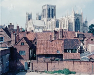 view of the Minster from Bedern