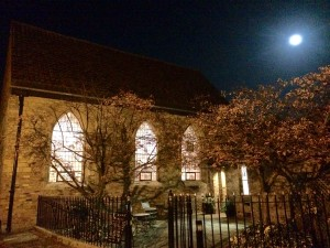 Bedern Hall at night